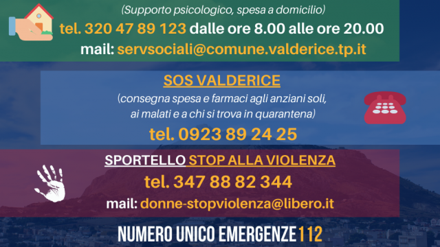 Emergenza coronavirus, numeri utili