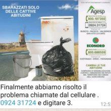 Comune di Valderice – Recapiti per il Servizio di raccolta dei rifiuti ingombranti
